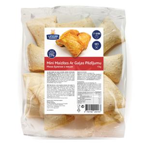Mini maizītes ar gaļas pildījumu LATVIJAS MAIZNIEKS 20 gab., 1Kg