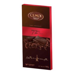 Tumšā šokolāde ar 72% kakao CEMOI, 100g