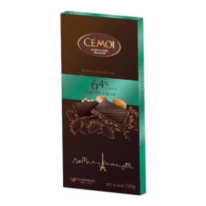 Tumšā šokolāde ar mandeļu riekstiem CEMOI, 100g