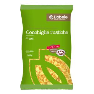 Makaroni Dobele Conhiglie Rustiche 500g (gliemežvāki)