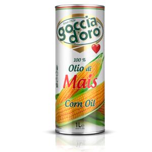 Kukurūzas eļļa GOCCIA D'ORO (dz/b), 1L