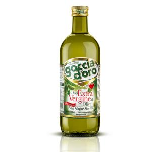 Olīveļļa Extra Vergine GOCCIA D'ORO, stikla pudelē, 1L